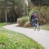 Vélo sur la Coulée verte