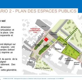 Scenario 2 Plan des espaces publics