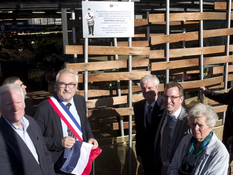 Dévoilement de la plaque en hommage à Pierre Million-Rousseau