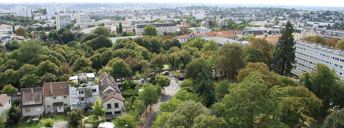 Vue des toits de l'avenue de Verdun