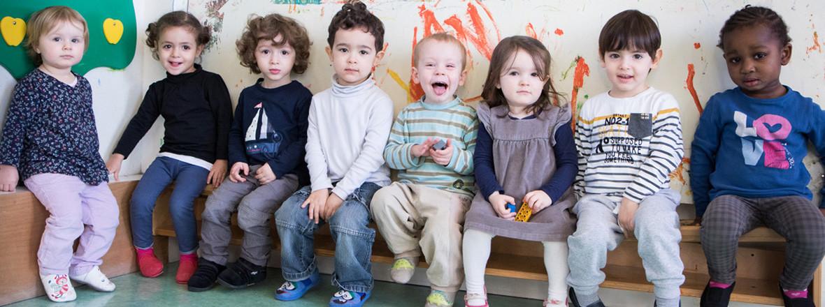 Quelques enfants de la crèche Oasis en 2016