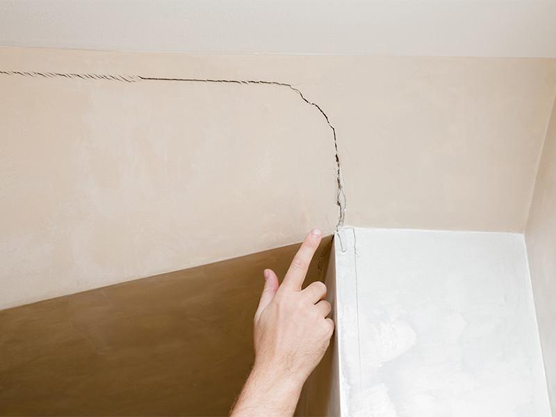 Fissure dans une maison