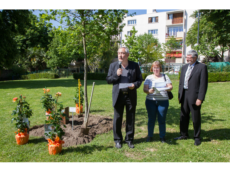 01-Plantation rosier 40 ans jumelage BDF C.VOISIN-3