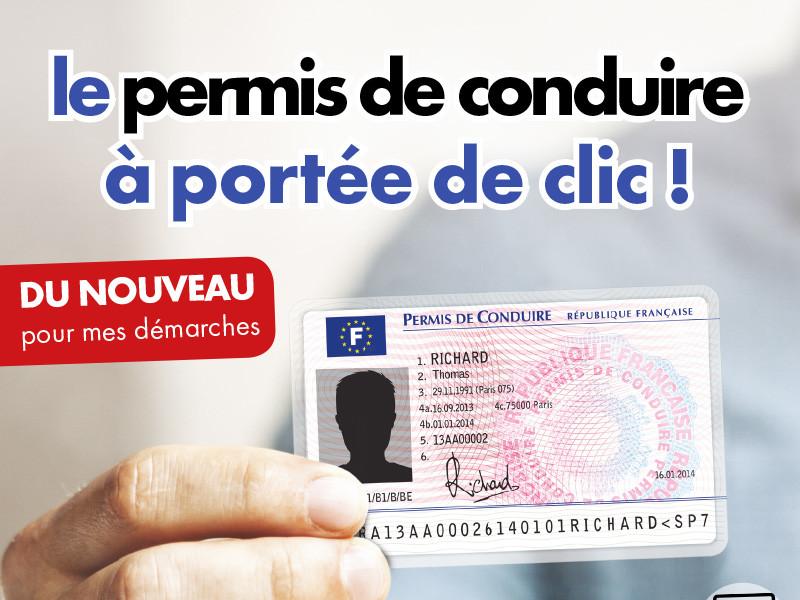 Le permis de conduire à portée de clic