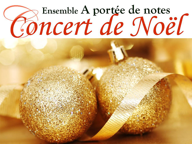 Concert de Noël de l'ensemble A portée de notes