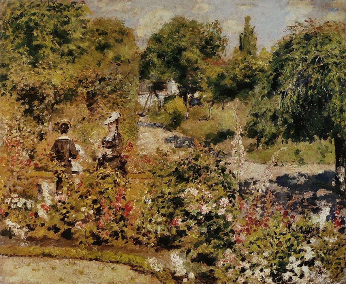 Jardin à Fontenay, 1874