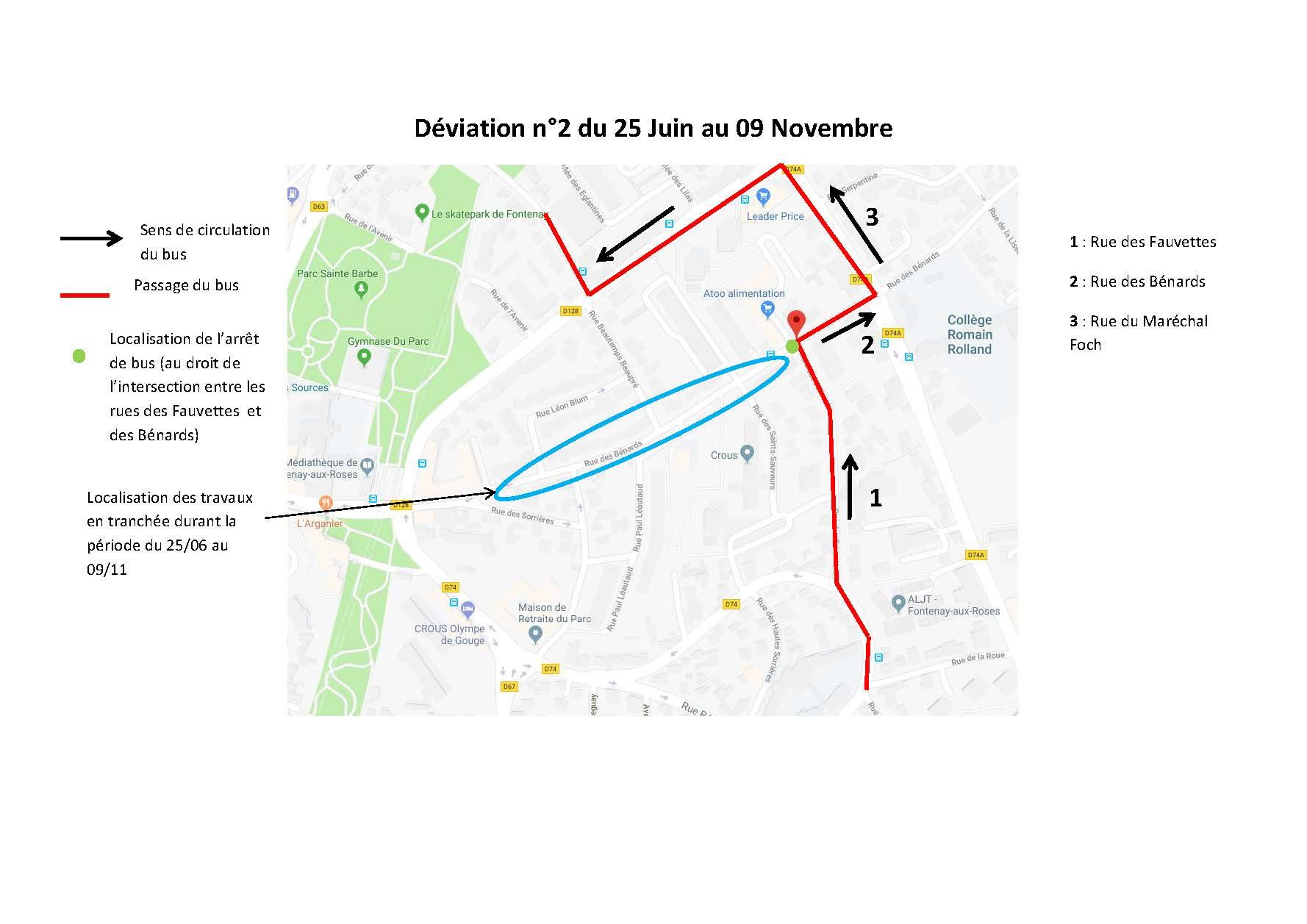 Déviation du Petit Fontenaisien du 25 juin au 9 novembre 2018