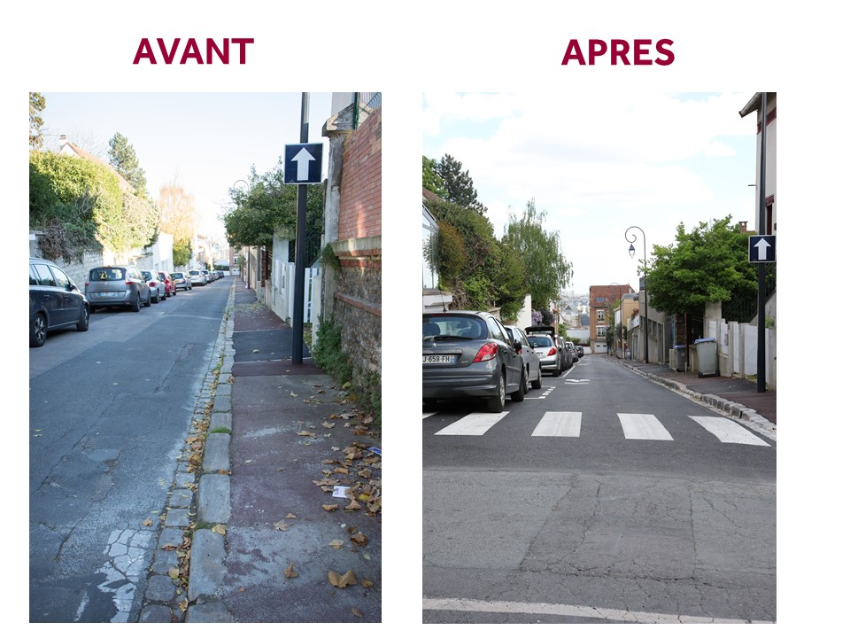 Rue de l'Abbé Grandjean avant-après