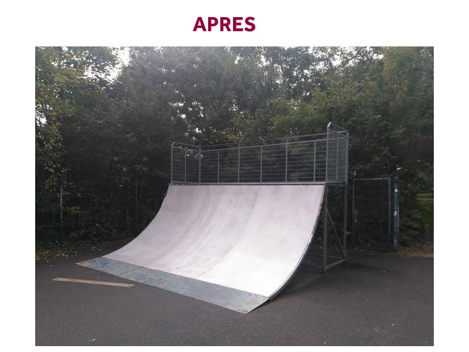 Skate parc après les travaux