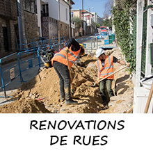Rénovations de rues