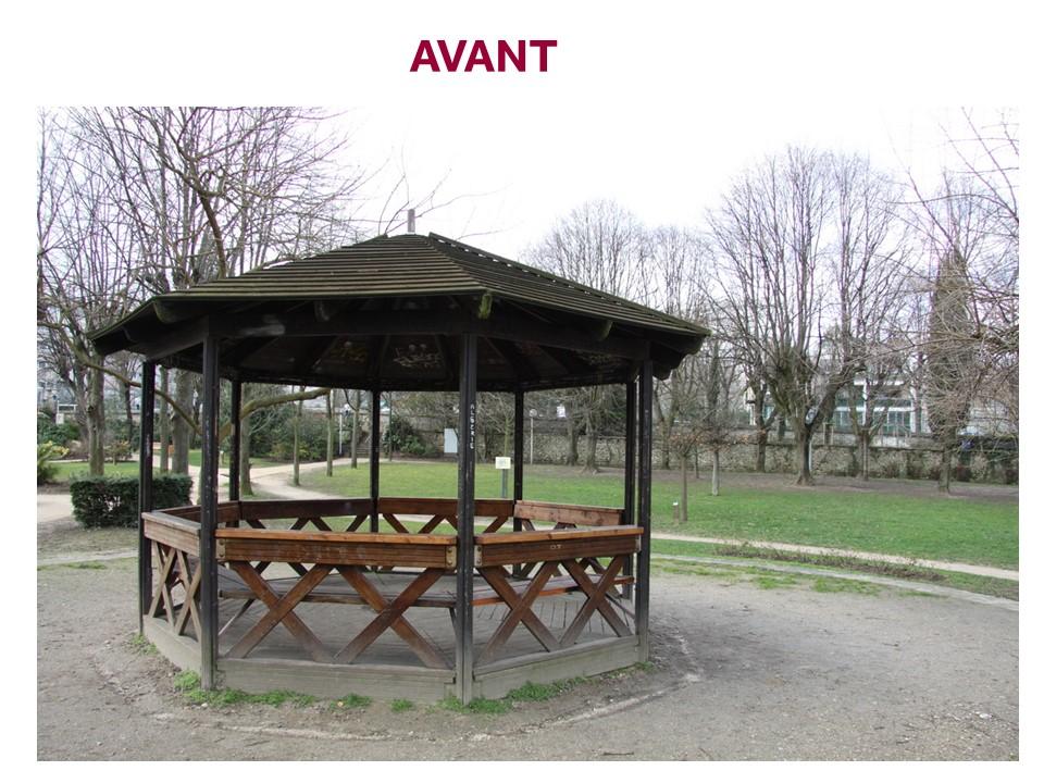 Kiosque du parc Sainte-Barbe avant